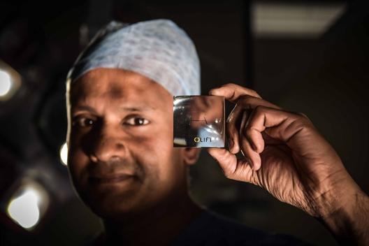 Urology expert Nikesh Thiruchelvam with Urolift prostate treatment in Cambridge UK